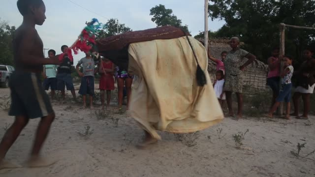 A traditional Bumba Meu Boi ceremony is held in the Imbiral quilombo which community members say is being heavily encroached upon by illegal logging...