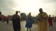 Traditional dancers Jemaa el fna.