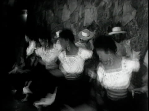 Traditional folk dancing and singing celebrations 7th International Pacific Trade Fair on December 16 1971 in Peru