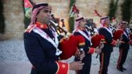 Traditional Jordanian Military Band Perform Traditional Jordanian Military Band Perform on March 12 2013 in Amman Jordan