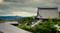 Traditional Roof in Kyoto, Japan - Time Lapse