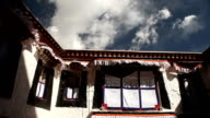 Traditional Tibetan House in Mountains