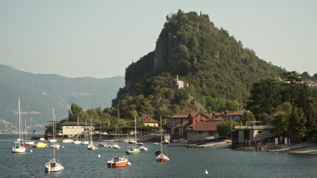 Traditional village on lake Maggiore, in Northern Italy.