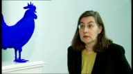 new sculptures for 2012 and 2013 Katharina Fritsch interview next her artwork of a blue cockerel 'Hahn/Cock' SOT Feel happy and honoured / Wanted to...