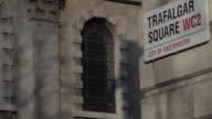 Trafalgar Square Sign, Trafalgar Square, Westminster, London, England, UK