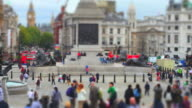 Trafalgar Square (Time Lapse And Tilt Shift Effect)
