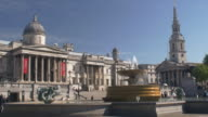 Trafalgar Square,the National Gallery and St Martin's in the Fields.