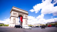 Traffic around Arc de Triomphe