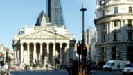 Traffic Around Royal Exchange In London City