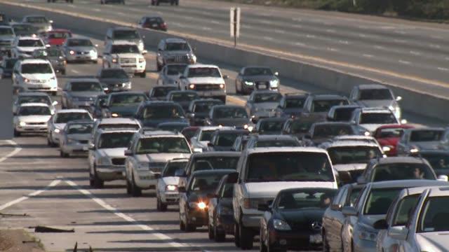 KSWB Traffic around San Diego Closeup of cars sitting in traffic wideshot of traffic on freeway