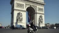 WS TU Traffic at Arc de Triomphe, Paris, France