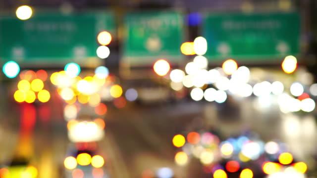 Traffic at night in Bangkok, Thailand
