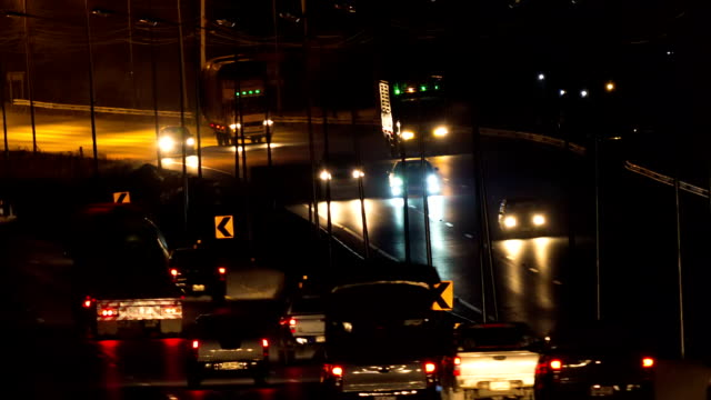 Traffic at Night on the highway