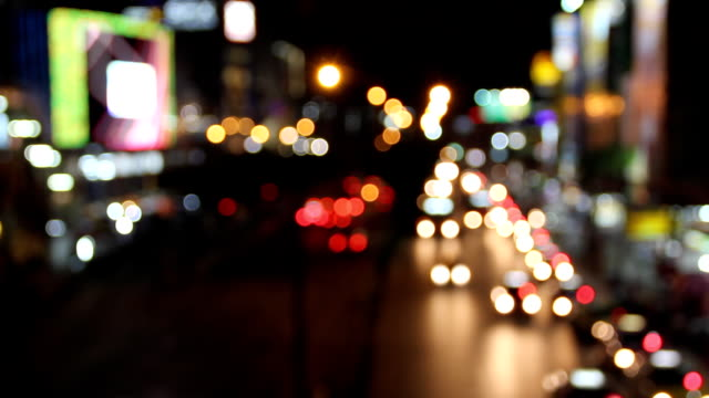 Traffic at night (Time lapse).