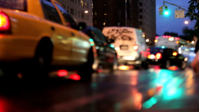 NYC Traffic at Night (Tilt Shift Lens)