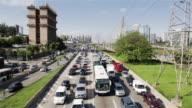 WS, HA Traffic congestion on a busy highway in Sao Paulo's Morumbi district / Sao Paulo, Brazil