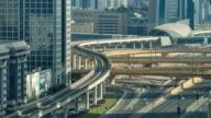 Traffic, Dubai, Time Lapse