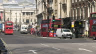 MS Traffic Flowing on street in frount of whitehall / London, England, Great Britain