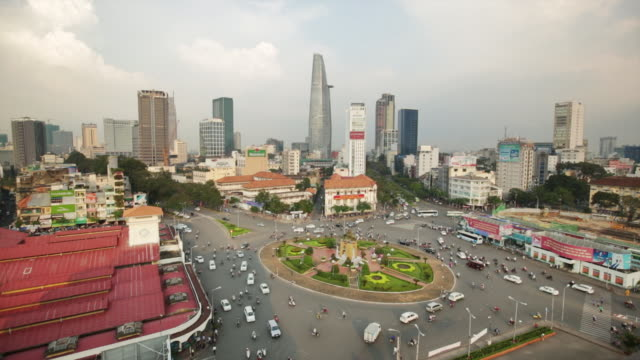 WS Traffic Ho Chi Minh City roundabout, Vietnam