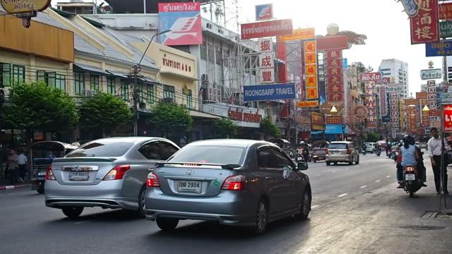 Traffic in Bangkok chinatown