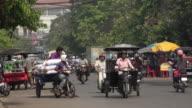 Traffic in downtown Siem Reap