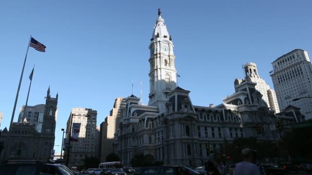 LA Traffic in front of City Hall building / Philadelphia, Pennsylvania, United States