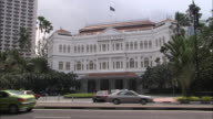WS, Traffic in front of Raffles Hotel, Singapore