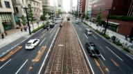 Traffic in Hiroshima, Japan