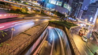 traffic in hong kong,time lapse 4k,tilt up.
