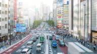 Traffic in the streets at Shinjuku