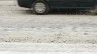 Traffico in passaggio invernale-auto