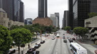 Traffic intersection downtown Financial Centre, Los Angeles, California, United States of America, Time-lapse