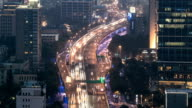 Traffic is brought to a standstill in the rush hour in Shanghai