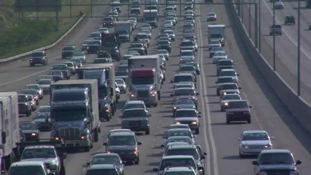 MS, HA, Traffic jam on highway, Atlanta, Georgia, USA