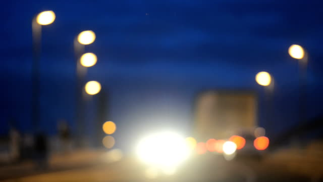 Traffic lights dusk defocused hd