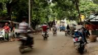 Traffic Local market in Bagan, Myanmar
