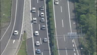 Traffic moves slowly on the Tohoku Expressway near Utsunomiya Interchange.