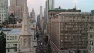 WS Traffic moving on city street / New York, New York, United States