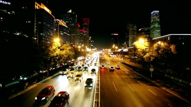 Traffic of Beijing city night