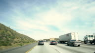 POV Traffic on an interstate highway in California
