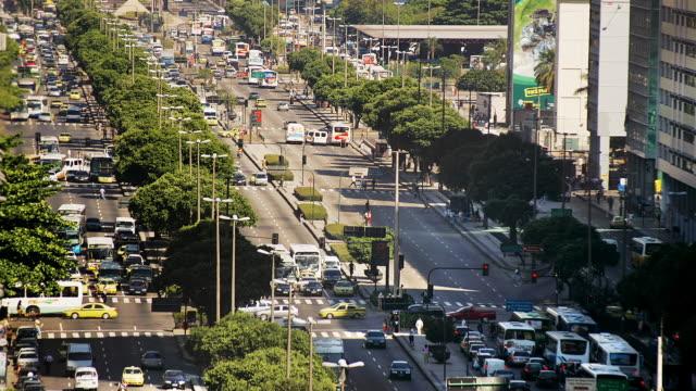 T/L, WS, HA, Traffic on Avenue Presidente Vargas, Rio de Janeiro, Brazil