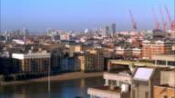WS, CS, Traffic on bridge and cityscape, London England