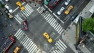 T/L, MS, HA, Traffic on Broadway intersection, Manhattan, New York City, New York, USA