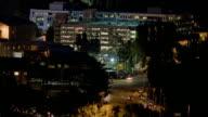 T/L, WS, HA, Traffic on Forest Lawn Drive at night, Universal City, California, USA