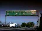 Traffic on highway in Los Angeles, California