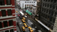 T/L WS HA Traffic on intersection in Soho, rainy day, day to night, New York City, New York, USA