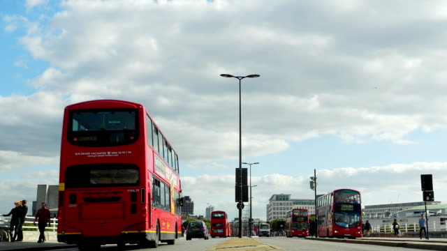 Traffic On London Waterloo Bridge