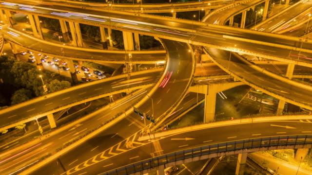 Traffic on overpass interchange - tilt up
