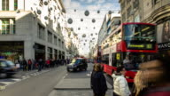 Traffic on Oxford Street at Christmas - Time Lapse