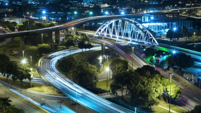 TL, HA Traffic on Rio de Janeiro highways at rush hour / Rio de Janeiro, Brazil